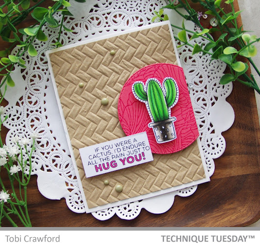 Tobi Crawford ink: Hug You Card - Technique Tuesday