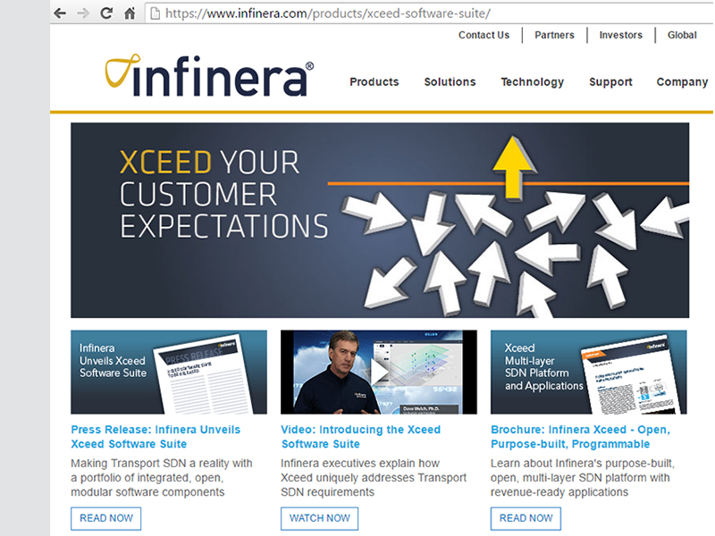 Converge! Network Digest: Infinera Unveils Xceed Software