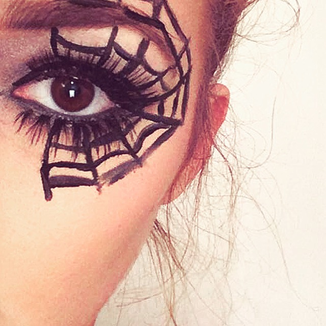 Lovelaughslipstick blog - Halloween Cobweb Makeup Looks