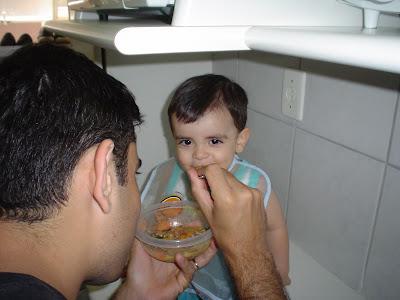 Comida com papai