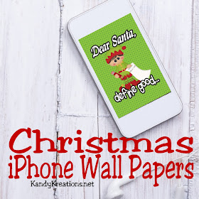 Decorate your iPhone for Christmas with these fun wall paper freebies. Such a fun way to get ready for Christmas and have a little Christmas spirit with you all month long!