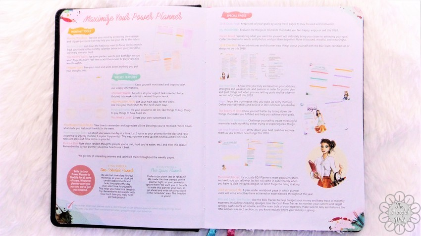 A Close-up Look inside a Filipino Lady`s Planner: 2018 Belle De Jour Power Planner | First Impressions and Reviews | Information and Suggestions for the 2018 Belle De Jour Power Planner Pages - Top Beauty, Books, Health, Fashion, Life, Lifestyle, Style, and Travel Blog/Website - by Filipino/Filipina/Pinay - Blogger/Freelance Writer in Quezon City, Metro Manila, Philippines
