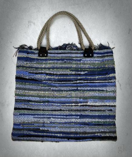 gk kreativ Upcycling Teppich Tasche