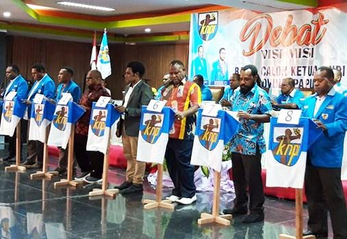 Debat Kandidat, Begini Visi-Misi Balon Ketua KNPI Papua