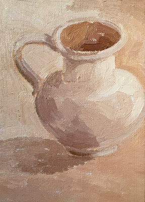 Daily Painting #4 'Little Jug' 5×7″ oil on board