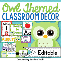 https://www.teacherspayteachers.com/Product/Owl-Classroom-Decor-263643