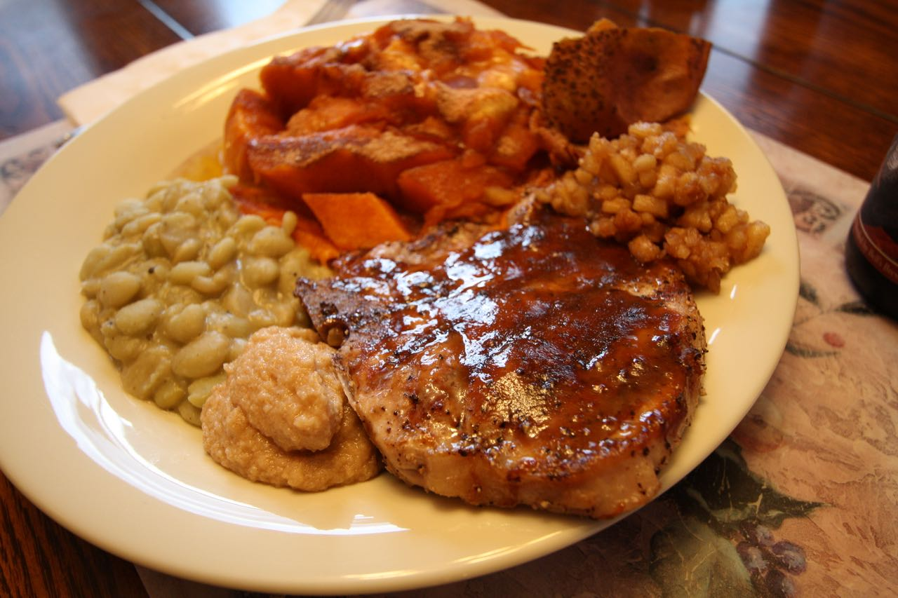 Molasses-Mustard Glazed Pork Chops With Apple Butter ...