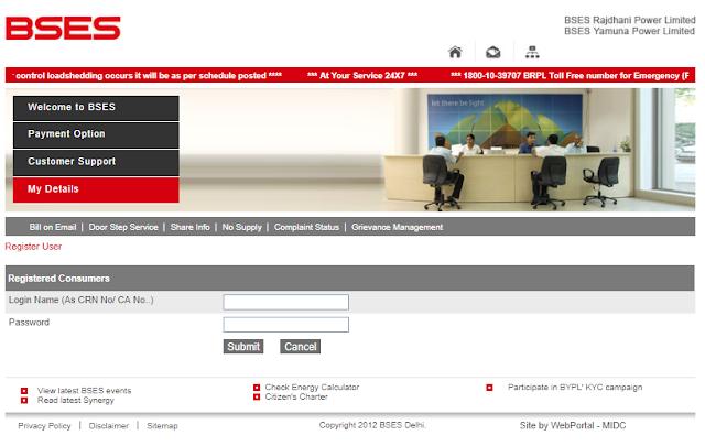 BSES Online Registration