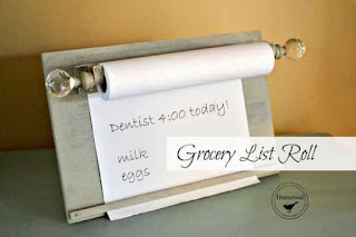 DIY Grocery List Roll