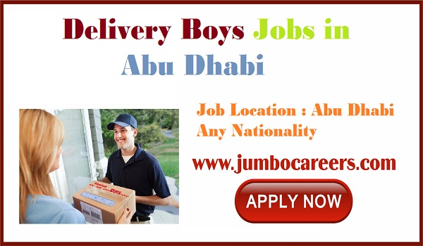 Urgent jobs vacancies in UAE, Abu Dhabi Delivery Boys jobs with salary,