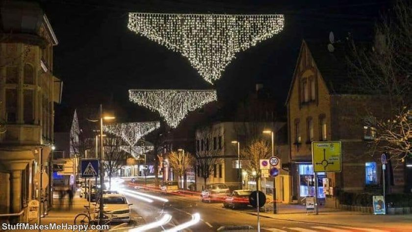 15. Sparkling flying panties - the best decoration of the city