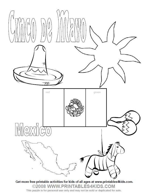 5 De Mayo Batalla De Puebla Para Colorear