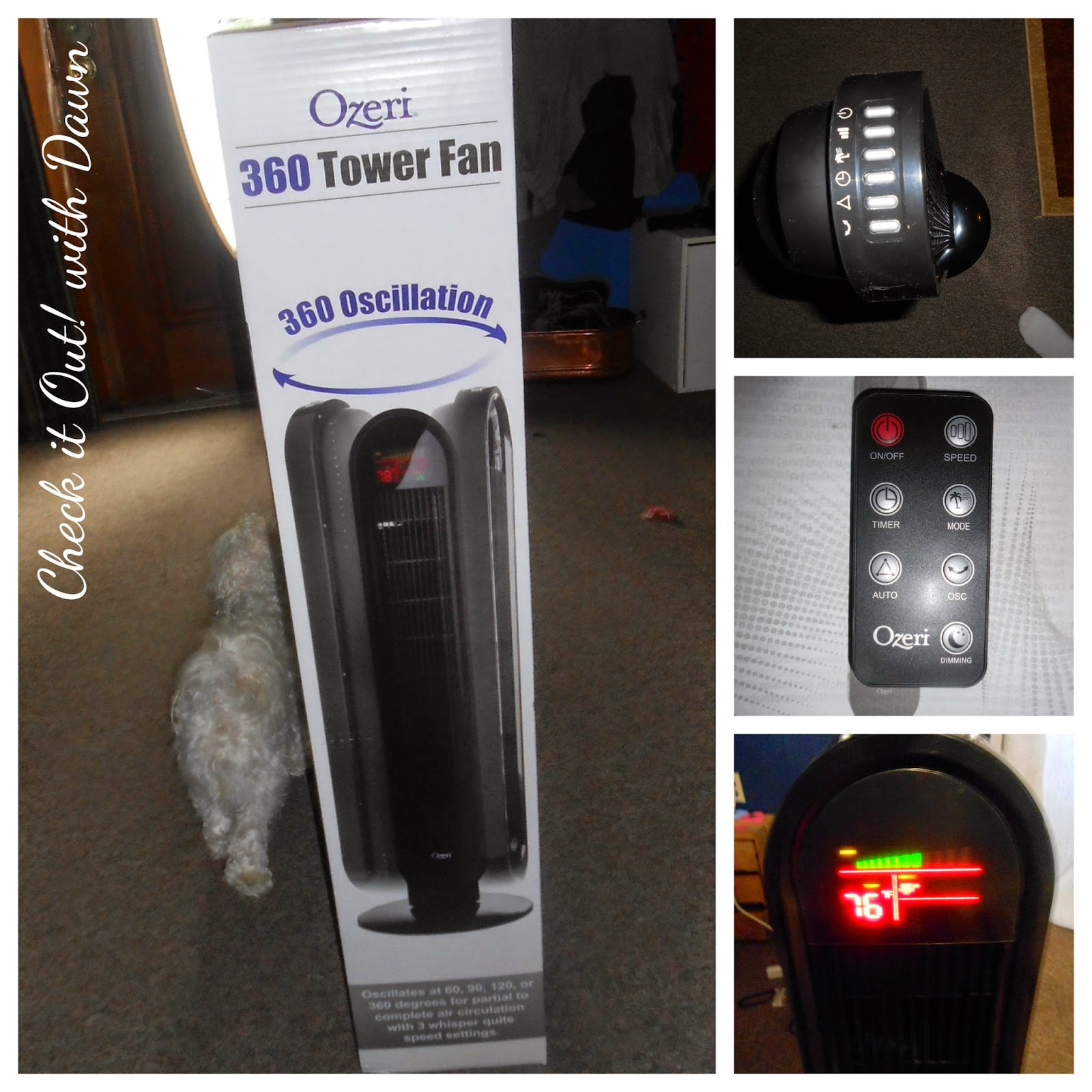 Check it Out! with Dawn: Product Review: Ozeri 360 Tower Fan