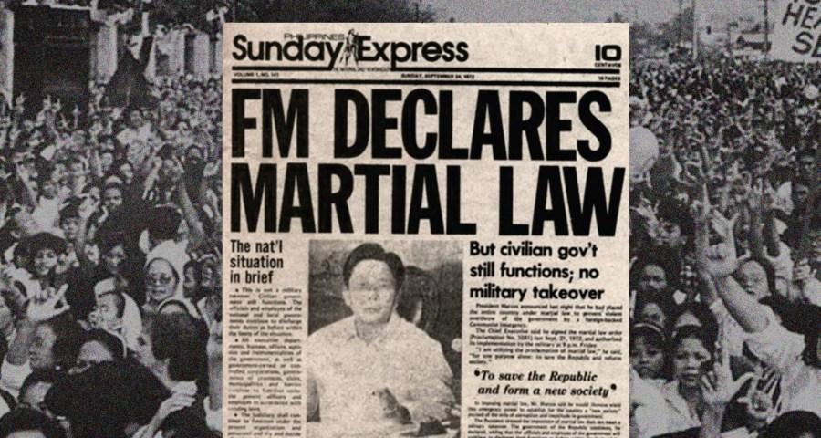 Ferdinand E. Marcos, Martial Law