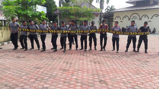 Polres Tanjung Balai Gelar  Pelatihan Meningkatkan kemampuan  Dalmas dalam menyambut Pilgub
