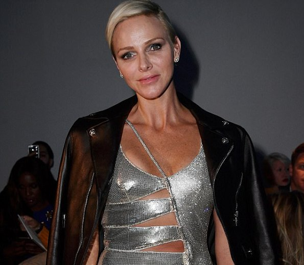Princess Charlene of Monaco attended the Versace show during Milan Fashion Week