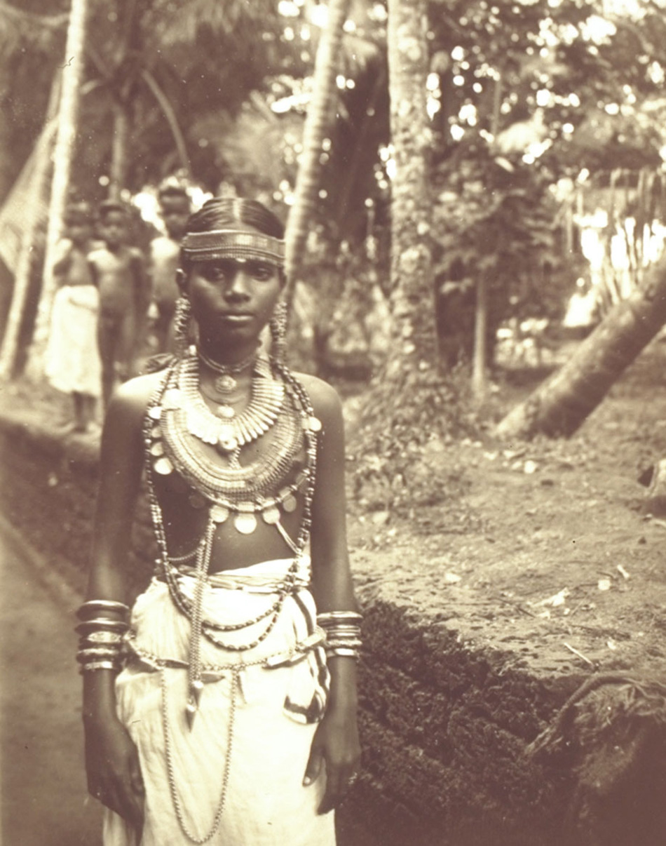 Malabar Nair Woman Wearing Jewelry - 1914