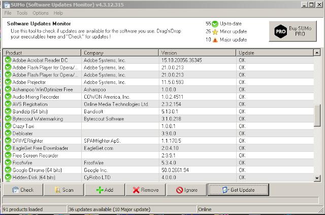 تحديث جميع البرامج على الكمبيوتر مع تطبيق SUMo