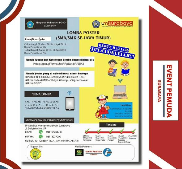 Lomba Poster SMA/SMK Se-Jawa Timur 2018 UM Surabaya