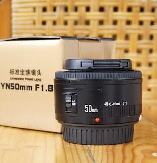 Jual Lensa Fix 50mm f.8 Yongnuo Baru