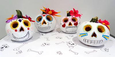 Mexican Sugar Skull pumpkins