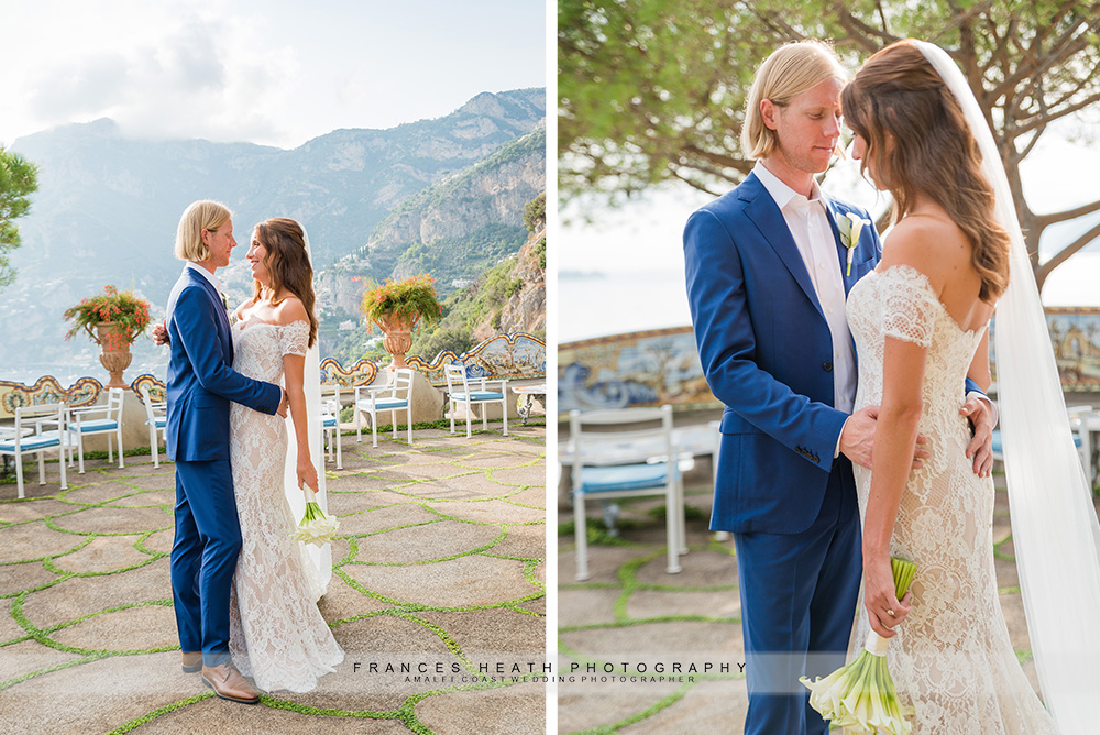 Wedding portraits at hotel San Pietro