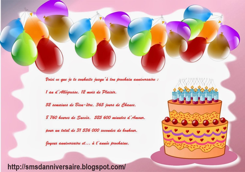 message anniversaire special
