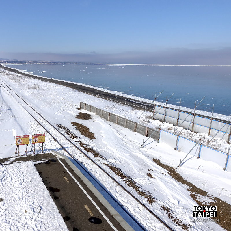 【北濱駅】離海最近的車站 登上展望台看鄂霍次克海流冰