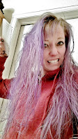 purple hair tangly messy protein treatment jojoba oil deep conditioning
