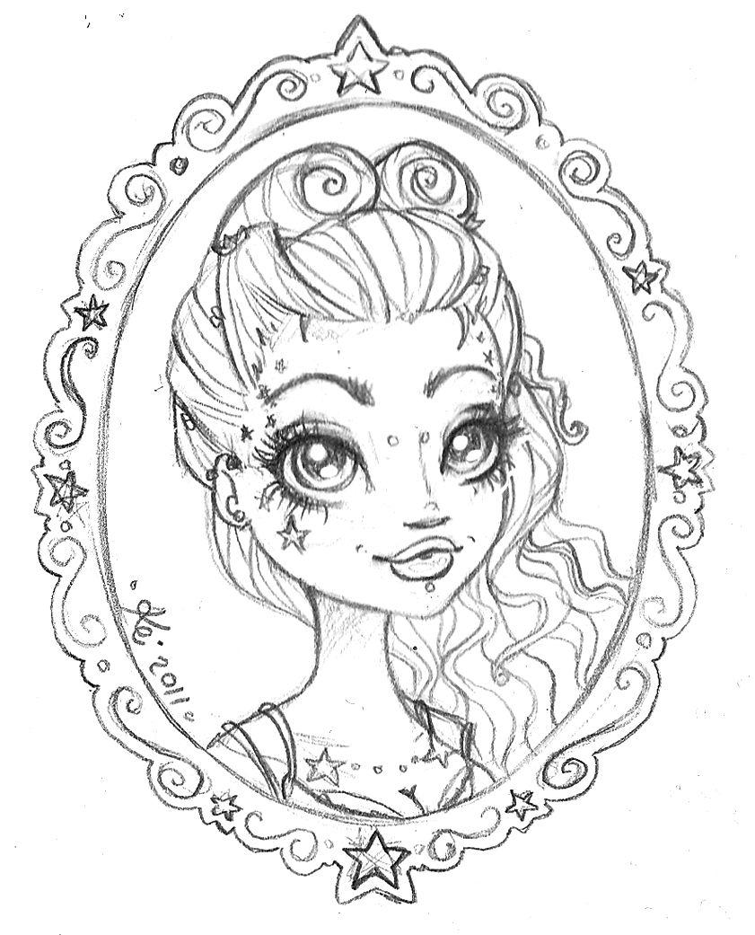 Coloring Pages For Girls: Kei Frames: Cameo Girls