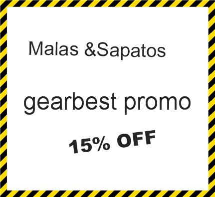 gearbest promo 15% OFF! Malas &Sapatos