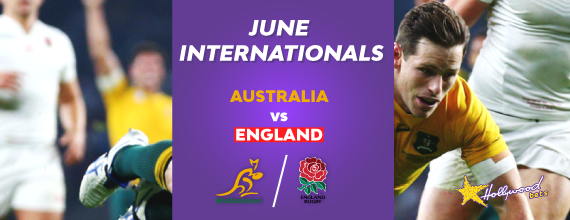 England versus Australia Header Image With Hollywoodbets Logo and Link to Our Preview for The Australia versus England Rugby Series