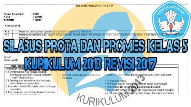 Donwload Silabus Prota dan Promes Kelas 5 Kurikulum 2013 Revisi 2017