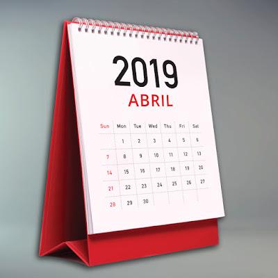 Calendario Fiscal 2019: abril