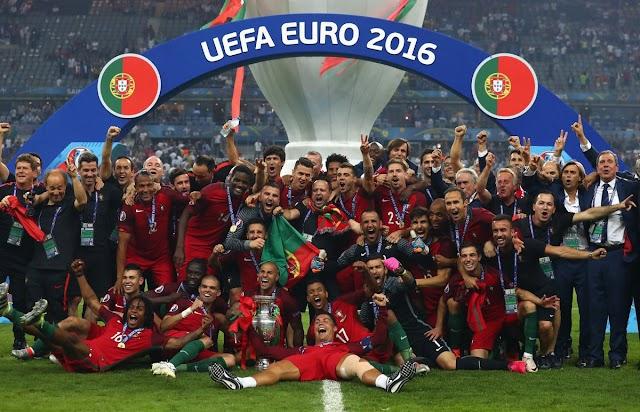 Portugal dá presente de grego para a anfitriã França e vence a final da Euro
