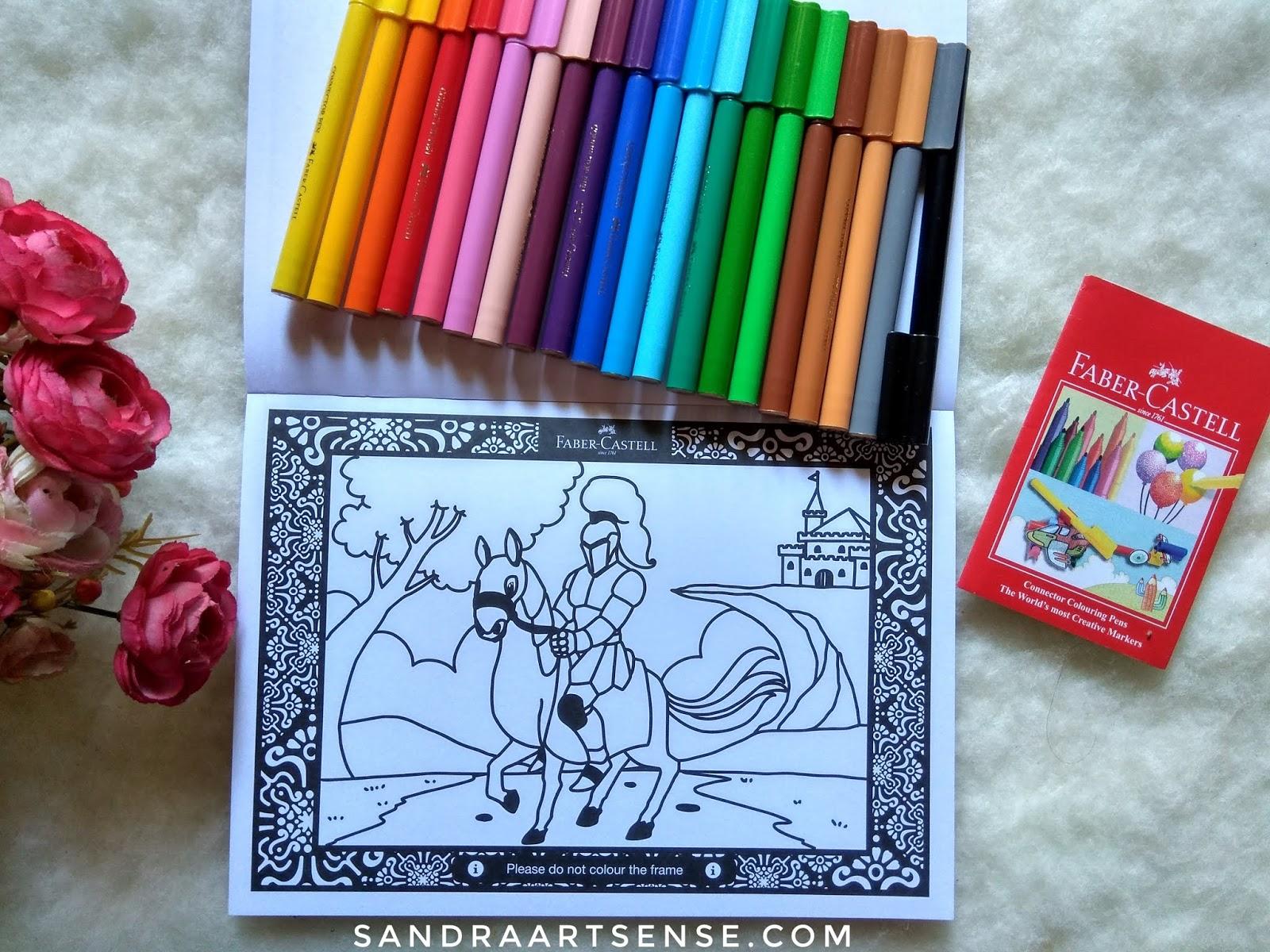 Show Up Your Imagination With Faber Castell Colour To Life Salah Satu Halaman Dalam Buku Mewarnai