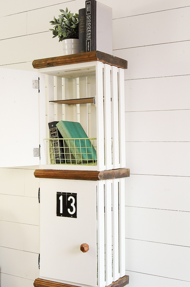 DIY crate lockers,  wood crates turned lockers, DIY, Storage, best DIY projects