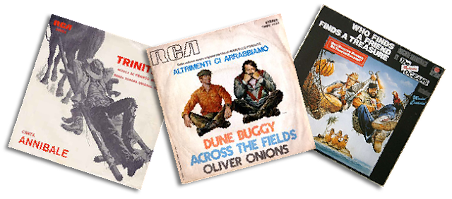 Bud Spencer & Terence Hill vinyl albums covers