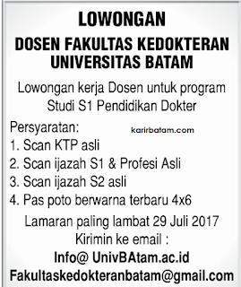 Lowongan Kerja Universitas Batam
