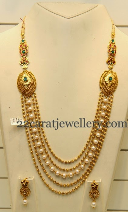 Simple Beads Haram Looks Heavy Jewellery Designs