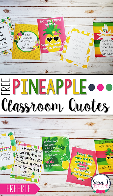 Free%2BQuotes%2BPin Teachers Welcome Letter Template Pinapple Theme on