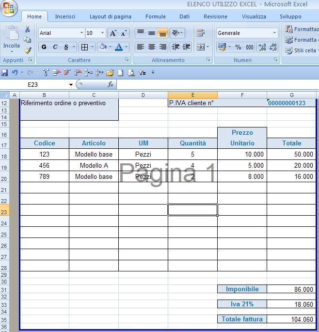 Excel easy Excel facile Come fare una fattura con EXCEL - Creare