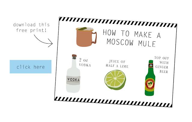 image regarding Moscow Mule Recipe Printable called Absolutely free Printable Moscow Mule Recipe Card Sante Web site