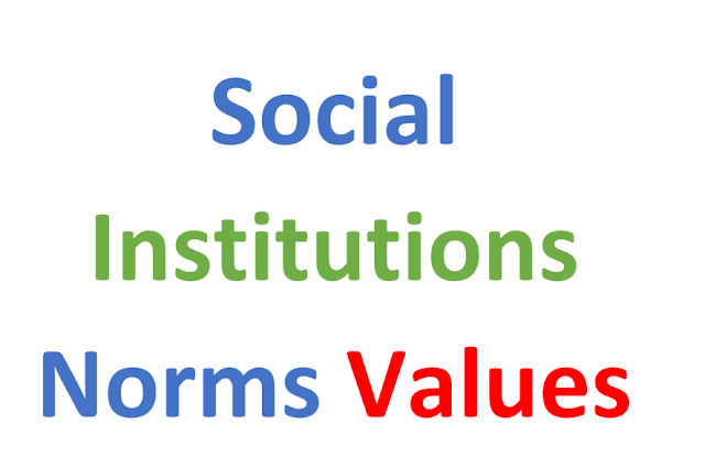 Social Institutions norms Values