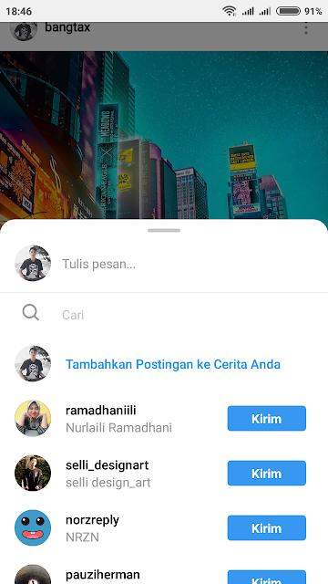 Cara Sematkan Postingan Feed Ke Story Instagram