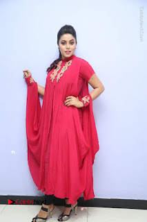 Actress Poorna Latest Stills in Red Dress at Rakshasi First Look Launch  0335.JPG