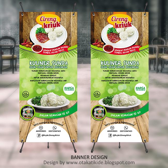 Contoh Spanduk: X-Banner Produk Cirengjasa Desain Kemasan Produk Ukm, Logo