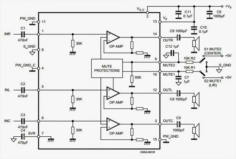 8w 8w 15w triple amplifier