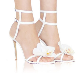 Alzuarr Orchid White Leather High Heeled Sandals
