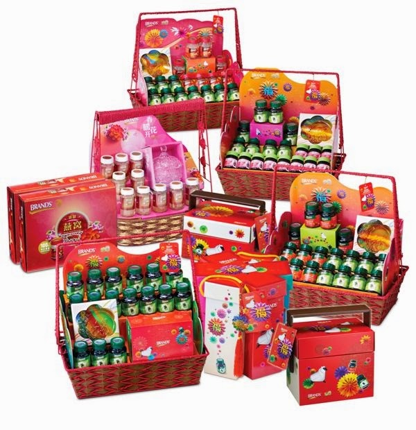 Chinese New Year Hamper, Chinese New Year, Chinese New Year Gift Packs, Brand's, Essence of Chicken, Essence of Chicken with Cordyceps, Bird's Nest, Royal Superior Bird's Nest, InnerShine Berry Essence